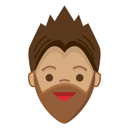 Pointed beard young man cheerful Transparent PNG