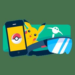 Pokémo ir realidade aplicativo móvel jogo
