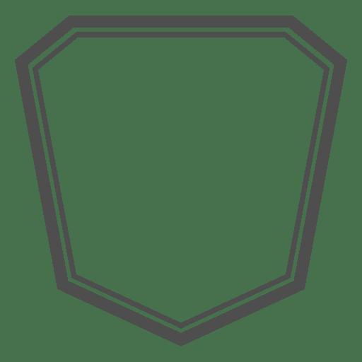 Emblema assimétrico de polígono Transparent PNG