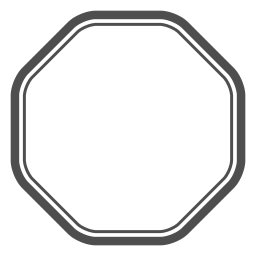 Polígono Octagon Emty Transparent PNG