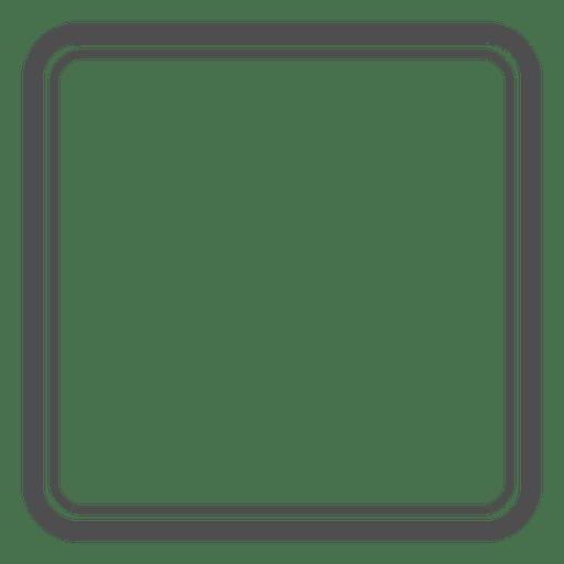 Rounded rectangle emty framework