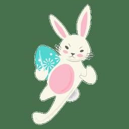 Rugby conejo huevo de pascua corriendo