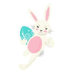 Rugby rabbit easter egg running