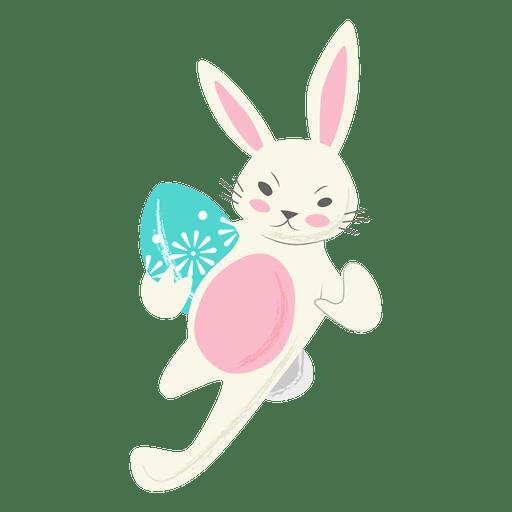 Huevo de Pascua de conejo de rugby corriendo