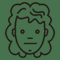 Sad Girl Outline