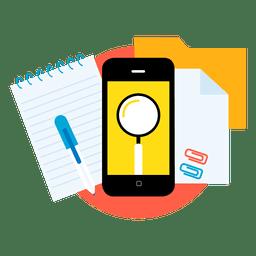 Pesquisar aplicativos de smartphone