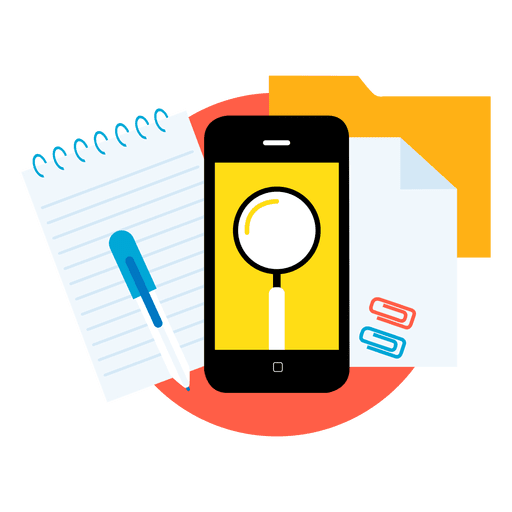 Search smartphone apps Transparent PNG