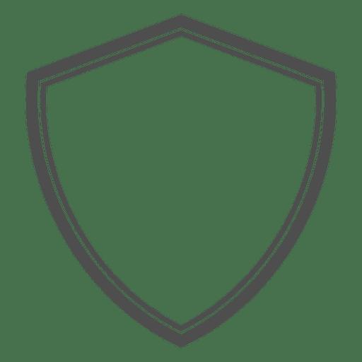 Schild heraldische Leere