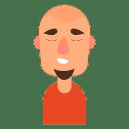 Homem de barba de cabra sonolento