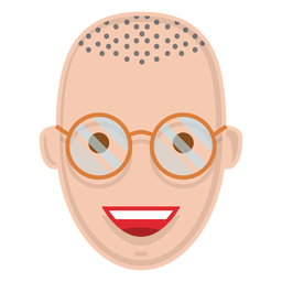 Flat smiling man with glasses