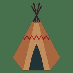 Abrigo de índios Teepee