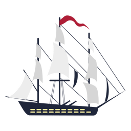 Navio de guerra navega a bandeira vermelha