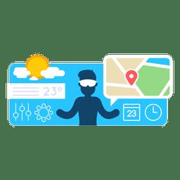 localização Tempo aplicativo móvel