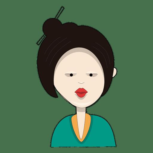 Women bun red lipstick Transparent PNG