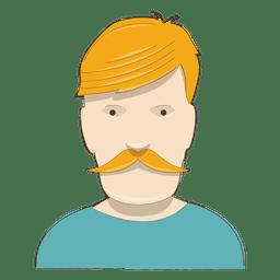 Yellow hair mustache man