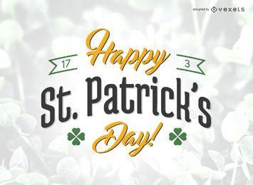 Cartel del día de St Patrick feliz