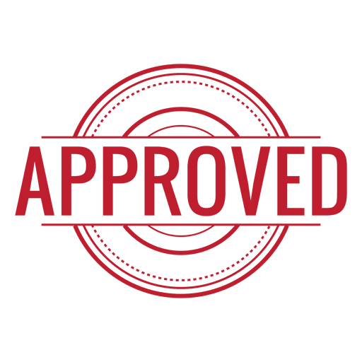 Approved red rounded - Transparent PNG & SVG vector
