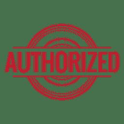 Autorisiert rot gerundet