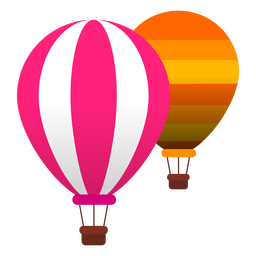 Balloons hot air flight