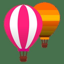 Vôo de ar quente de balões