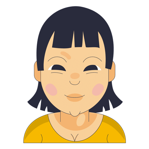 Bangs pointed chin yellow shirt Transparent PNG