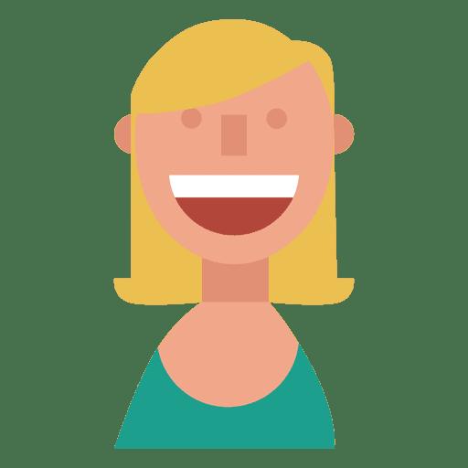 Chica rubia sonrisa grande piel roja Transparent PNG