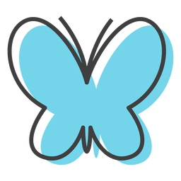 Mariposa azul insectos colores
