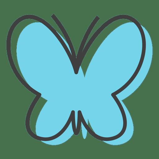 Cores de insetos de borboleta azul Transparent PNG