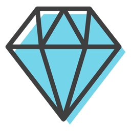 Blue diamond gems decoration