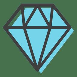 Decoração azul gemas de diamante