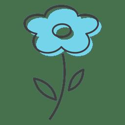 Cheiro de flor azul beleza