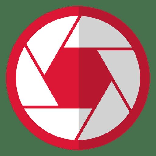 Diafragma de cámara rojo claro