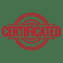 Certificado redondeado rojo.