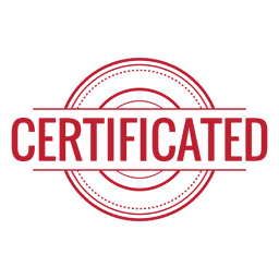 Certificated red rounded