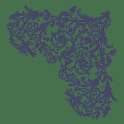 Corner ornament swirl margarite