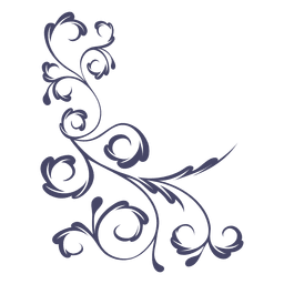 Lino decorativo de la flor de la esquina