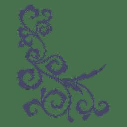 Lírio florido de canto decorativo