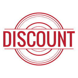 Discount red rounded