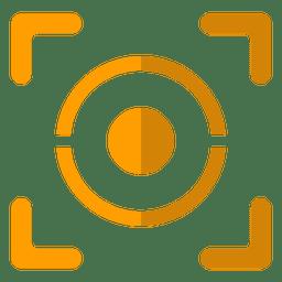 Ocular geométrico naranja
