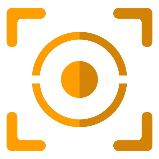 Eyepiece geometric orange Transparent PNG