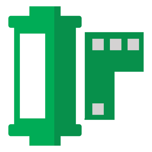 Film strip negative green Transparent PNG