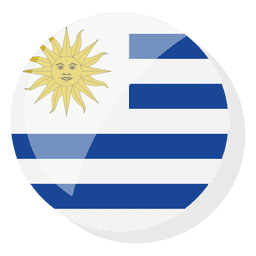 Flag country uruguay