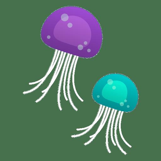 Floating elemets purple blue Transparent PNG