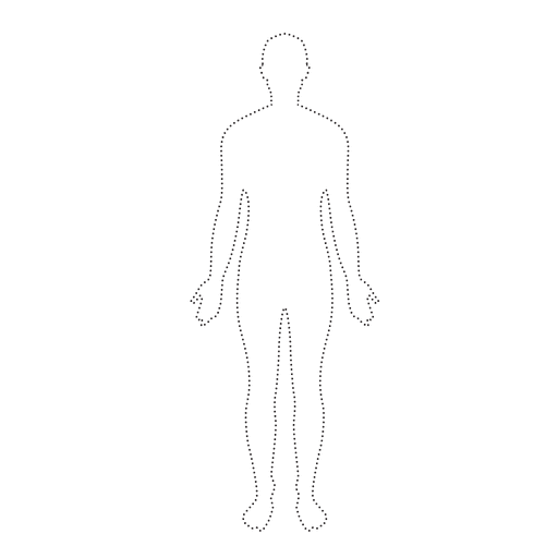 Human body man dotted Transparent PNG