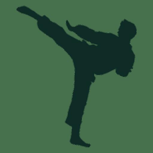 Karate high kick training Transparent PNG