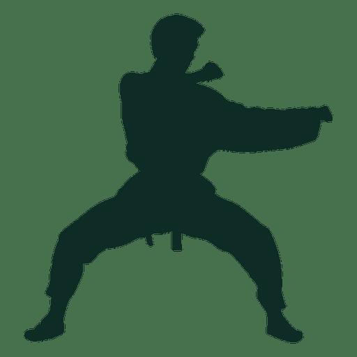 Karate stance training Transparent PNG