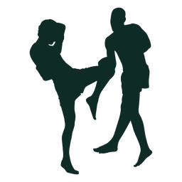 Kickboxing bloco de chute no joelho