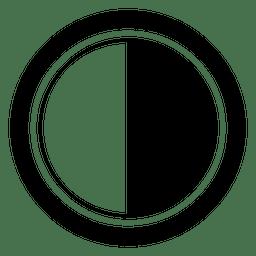 tampa da lente preto branco
