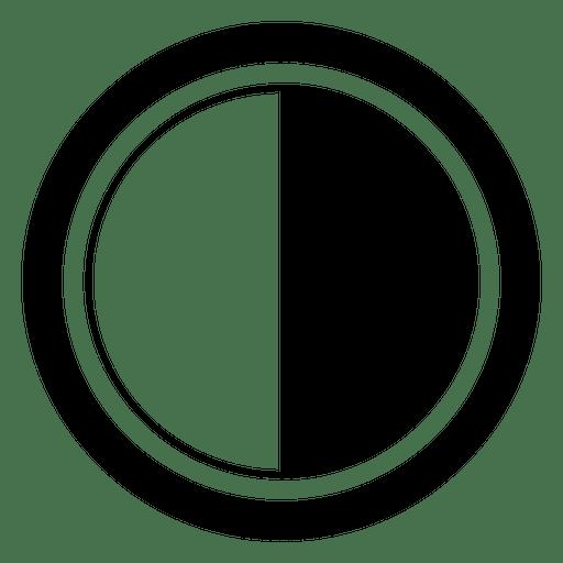 Tapa del objetivo negro blanco Transparent PNG