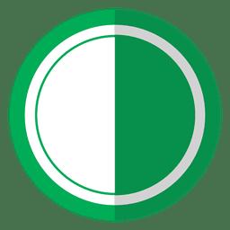 Tampa da lente verde